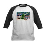 Xmas Magic & S Husky Kids Baseball Jersey