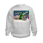 Xmas Magic & S Husky Kids Sweatshirt