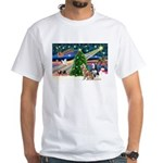 Xmas Magic & S Husky White T-Shirt