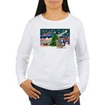 Xmas Magic & S Husky Women's Long Sleeve T-Shirt
