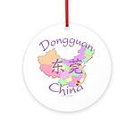Dongguan China Map Ornament (Round)