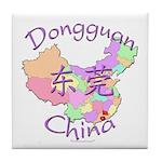 Dongguan China Map Tile Coaster
