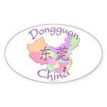 Dongguan China Map Oval Sticker