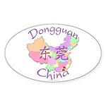Dongguan China Map Oval Sticker (10 pk)