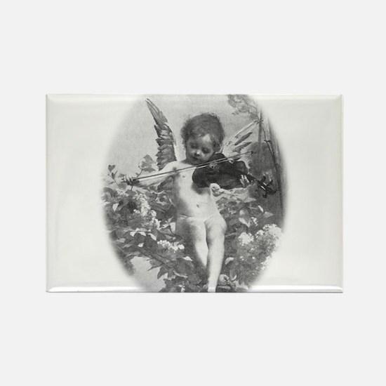 cherub plays violin Rectangle Magnet