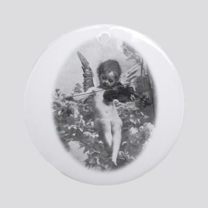 cherub plays violin Ornament (Round)