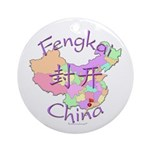 Fengkai China Map Ornament (Round)