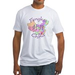 Fengkai China Map Fitted T-Shirt