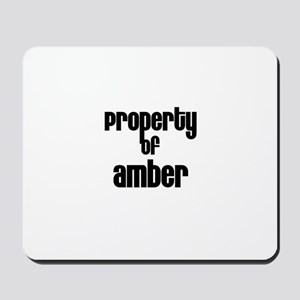 Property of Amber Mousepad