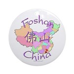 Foshan China Map Ornament (Round)