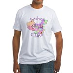 Foshan China Map Fitted T-Shirt