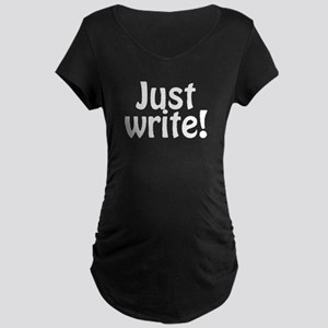 Just Write Maternity Dark T-Shirt