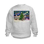 Xmas Magic & Red Husky Kids Sweatshirt