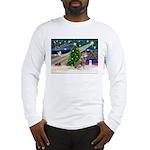 Xmas Magic & Red Husky Long Sleeve T-Shirt
