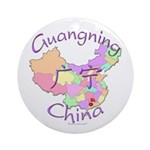 Guangning China Map Ornament (Round)