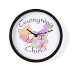 Guangning China Map Wall Clock
