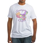 Guangning China Map Fitted T-Shirt