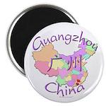 Guangzhou China Map Magnet