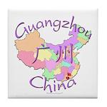 Guangzhou China Map Tile Coaster