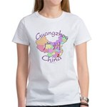 Guangzhou China Map Women's T-Shirt
