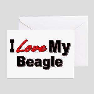 I Love My Beagle Greeting Cards (Pk of 10)
