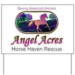 Angel Acres Horse Haven Yard Sign