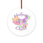 Haifeng China Map Ornament (Round)