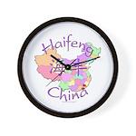 Haifeng China Map Wall Clock