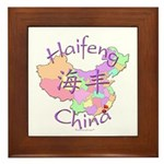 Haifeng China Map Framed Tile