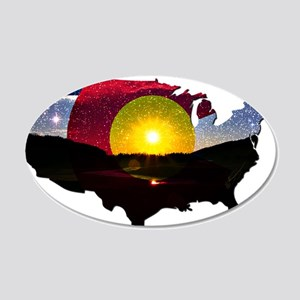 Colorado States of Mind 20x12 Oval Wall Decal