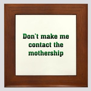Contact Mothership Framed Tile