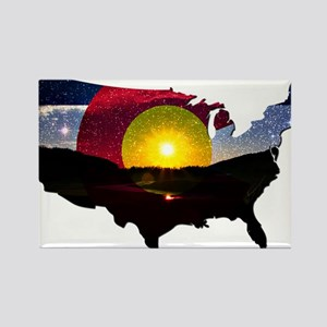 Colorado States of Mind Rectangle Magnet