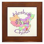 Heshan China Map Framed Tile