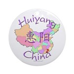 Huiyang China Map Ornament (Round)