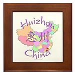 Huizhou China Map Framed Tile
