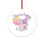 Jiangcheng China Map Ornament (Round)