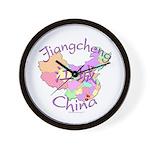 Jiangcheng China Map Wall Clock