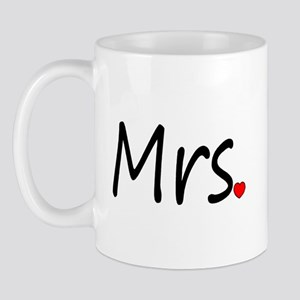 Mrs (Red Heart) Mug