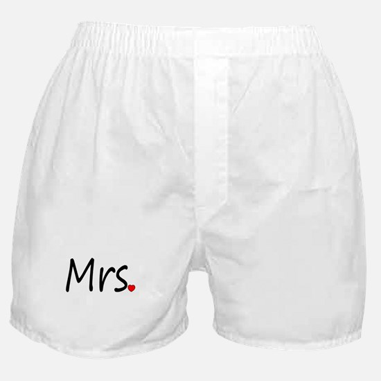 Mrs (Red Heart) Boxer Shorts