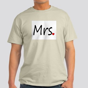 Mrs (Red Heart) Light T-Shirt