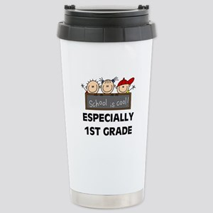 1st Grade is Cool Stainless Steel Travel Mug