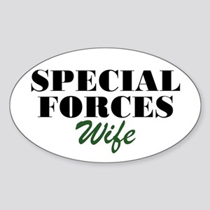 Special Forces Wife Oval Sticker