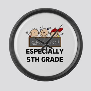 5th Grade is Cool Large Wall Clock