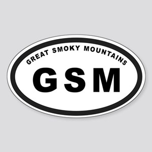 GSM-Great Smoky Mountians Oval Sticker