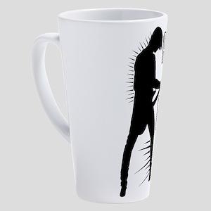 Bass Player 17 oz Latte Mug
