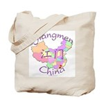 Jiangmen China Map Tote Bag