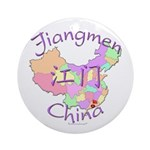Jiangmen China Map Ornament (Round)
