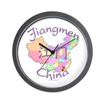 Jiangmen China Map Wall Clock
