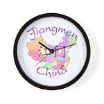 Jiangmen China Map Wall Clock