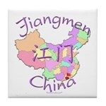 Jiangmen China Map Tile Coaster